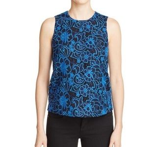 Cooper & Ella Womens Floral Lace shell- XS